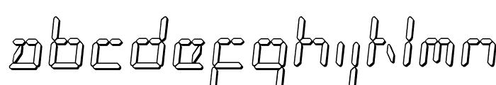 LED Sled 3D Font LOWERCASE