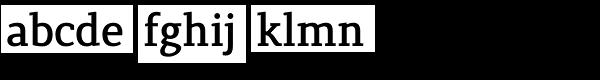 Lenga Extra Bold Font LOWERCASE