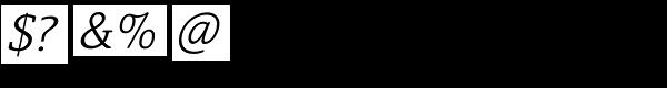 Lenga Light Italic Font OTHER CHARS