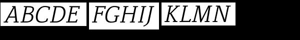 Lenga Light Italic Font UPPERCASE