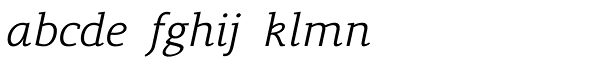 Lenga Light Italic Font LOWERCASE