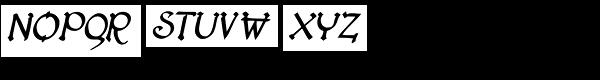 Lestatic Lashed Oblique Font UPPERCASE