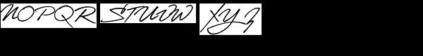 LHF Stanford Script Font UPPERCASE