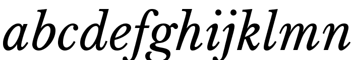 LibreBaskerville-Italic Font LOWERCASE
