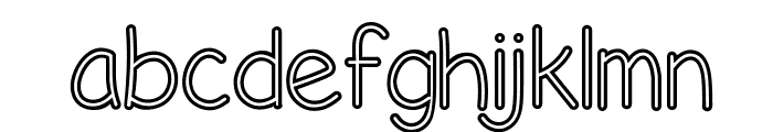 Life's A Beach Hollow Font LOWERCASE