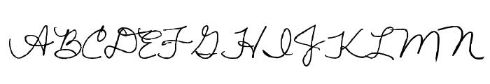 Lisa's First Class Font UPPERCASE