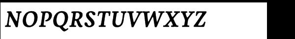 Livory Std Bold Italic Font UPPERCASE
