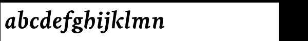 Livory Std Bold Italic Font LOWERCASE