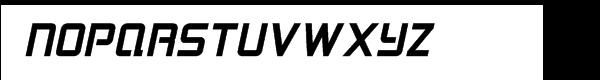 Logan Five Bold Italic Font UPPERCASE