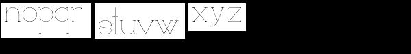 Loreen Font LOWERCASE