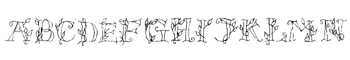 LSLeaves Font UPPERCASE