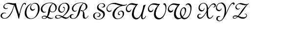 LTC Cloister Light Cursive Font UPPERCASE