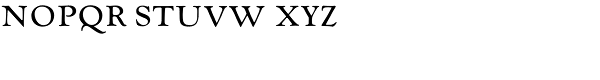 LTC Goudy Oldstyle Small Caps Font LOWERCASE