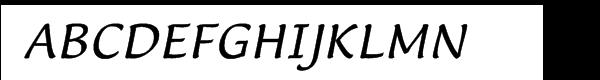 Lucida™ Casual Italic Font UPPERCASE