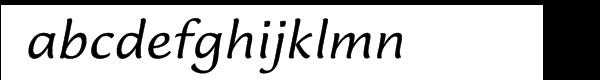 Lucida™ Casual Italic Font LOWERCASE