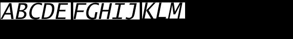 Lucida Sans Typewriter M Oblique Font UPPERCASE