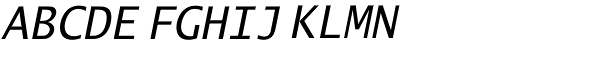 Lucida Sans Typewriter Std Obl Font UPPERCASE