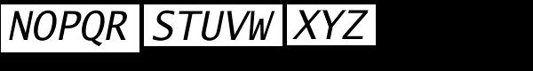 Lucida Sans Typewriter Std Oblique Font UPPERCASE