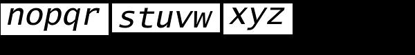 Lucida Sans Typewriter Std Oblique Font LOWERCASE