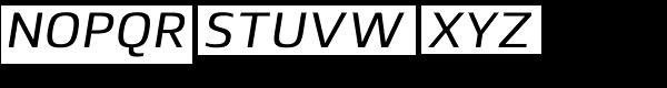 Lytiga Pro Medium Italic Font UPPERCASE