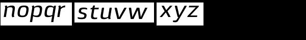 Lytiga Pro Medium Italic Font LOWERCASE