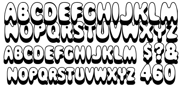 Magical Mystery Tour Outline Shadow Font