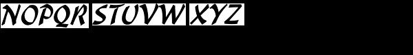 Malibu LET Font UPPERCASE