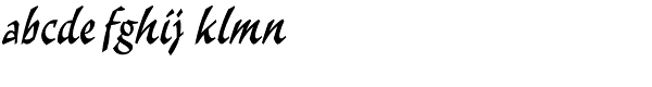 Malibu LET Font LOWERCASE