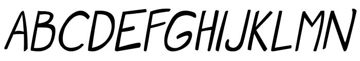 Manga speak 2 Italic Font LOWERCASE