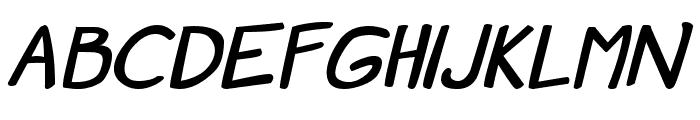 Manga speak 2 stocky Bold Font UPPERCASE