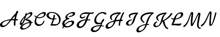 MarckScript-Regular Font UPPERCASE