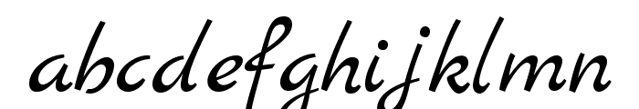 MarckScript-Regular Font LOWERCASE
