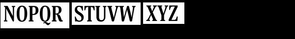 Margon 430 Bold Font UPPERCASE