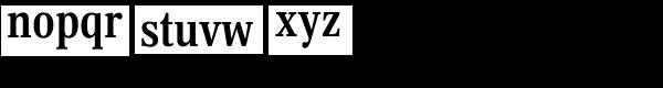 Margon 430 Bold Font LOWERCASE