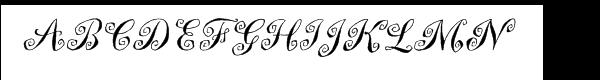 Marguerita™ Font UPPERCASE