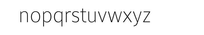 Maurea Thin OT Font LOWERCASE