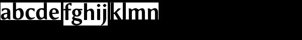 Meadow Pro Medium Font LOWERCASE