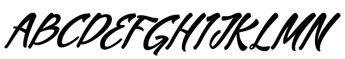 Mekar Script free Font UPPERCASE