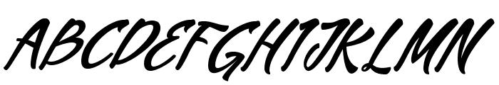 MekarScriptfree Font UPPERCASE