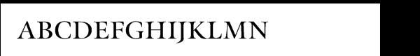 Meno SmallCaps Titling Font LOWERCASE