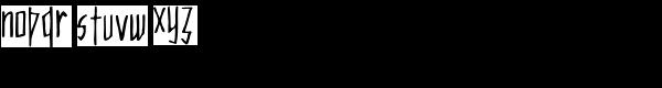 Merlin Font LOWERCASE