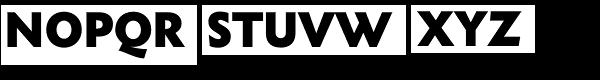 Metro Nova Pro ExtraBlack Font UPPERCASE