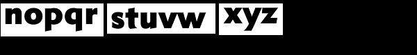 Metro Nova Pro ExtraBlack Font LOWERCASE