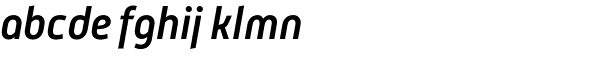 Mic 32 New Medium Italic Font LOWERCASE