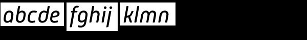 Mic32 New Rounded Italic Font LOWERCASE