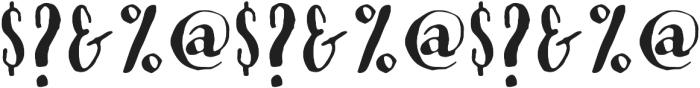 Modern Love Caps otf (400) Font OTHER CHARS