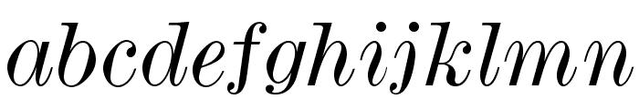 ModernMTStd-WideItalic Font LOWERCASE