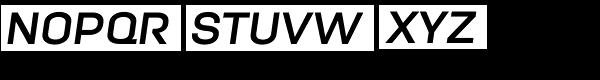 Moderna Unicase Bold Italic Font UPPERCASE