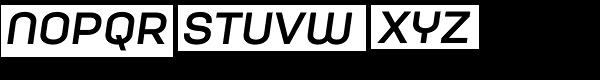 Moderna Unicase Bold Italic Font LOWERCASE
