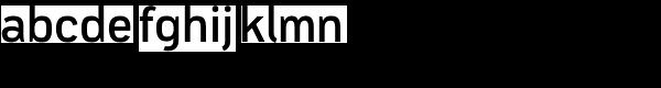 Modus Semi Bold Font LOWERCASE